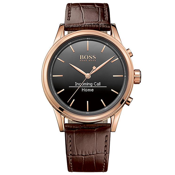 hugo boss watches boss watches uk ernest jones hugo boss men s rose gold plated smart watch product number 4966503