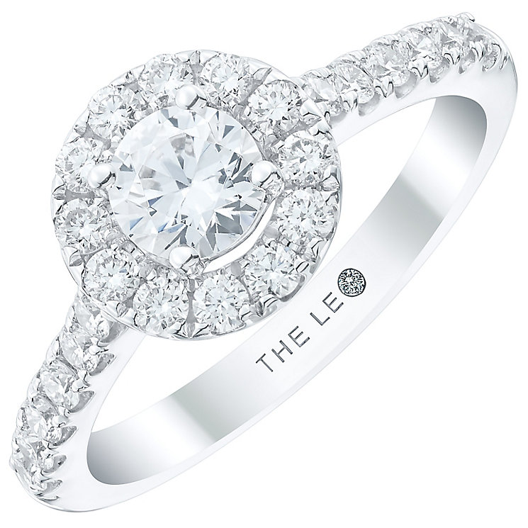 Leo Diamond 18ct White Gold 1ct Diamond Round Halo Ring - Product number 4969308