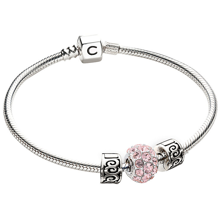 Chamilia Sterling Silver Pink Stone Bead Bracelet Set - Product number 4969421