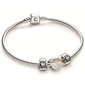 Chamilia Sterling Silver Fancy Cut Lock Bracelet Set - Product number 4969448