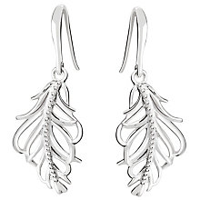 Chamilia Sterling Silver Feather Earrings - Product number 4969502
