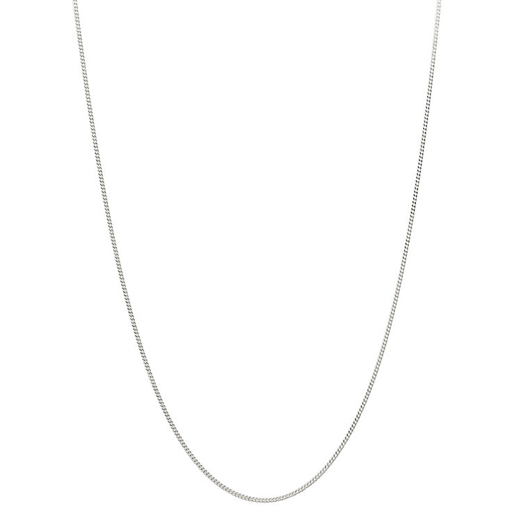 "Chamilia Sterling Silver 18"" Oval Curb Chain - Product number 4969596"