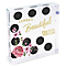 Personalised Floral Dot Large Crystal Token - Product number 4969782