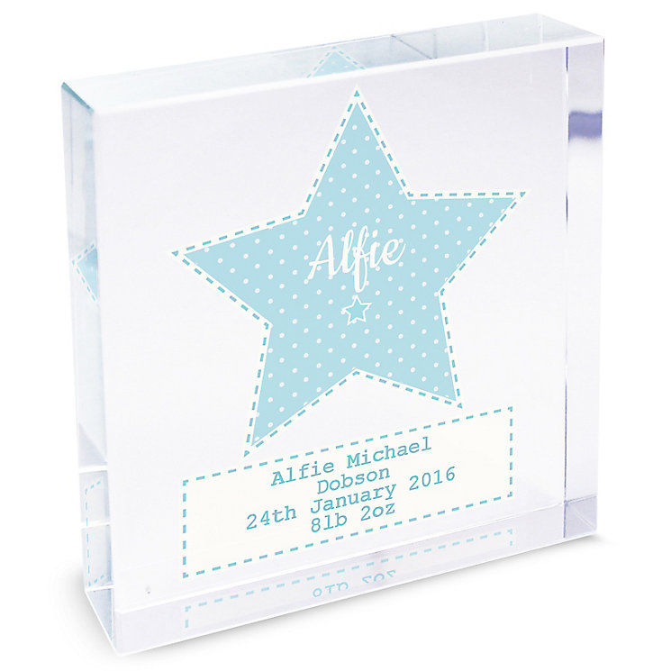 Personalised Stitch & Dot Boys Large Crystal Token - Product number 4970039