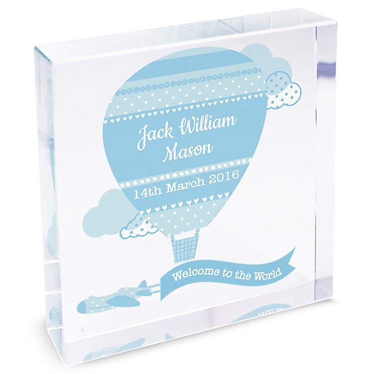 Personalised Up & Away Boys Large Crystal Token - Product number 4970047