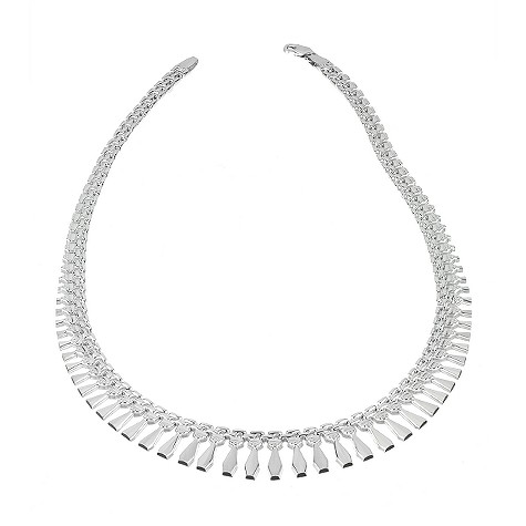 9c white gold cleo necklace