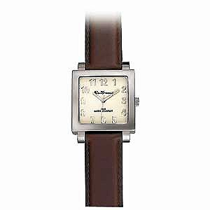 Menand#39;s Brown Leather Strap Watch