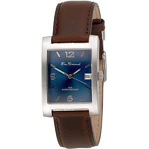 Men Brown Leather Strap Watch