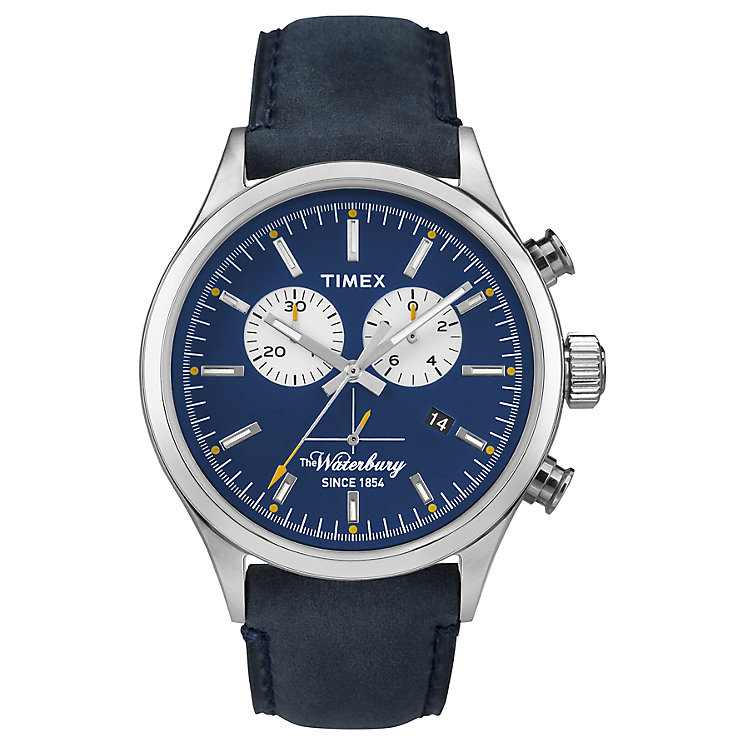 Timex Waterbury Chronograph Leather Strap Watch - Product number 4978056