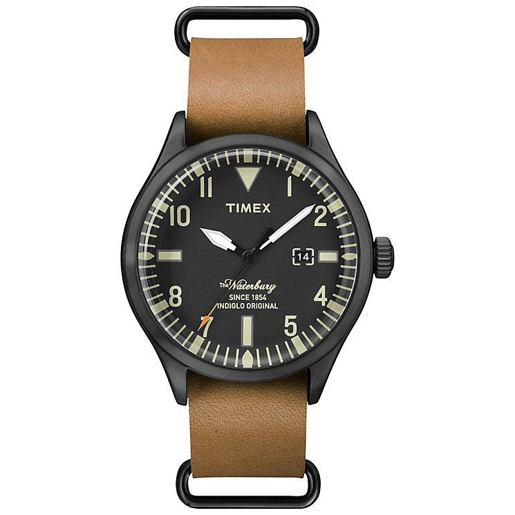 Timex Waterbury Tan Leather Strap Watch - Product number 4978072