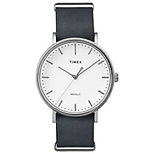 Timex Weekender Fairfield Black Leather Strap Watch - Product number 4978110