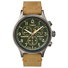 Timex Expedition Sierra Men's Tan Strap Green Dial Watch - Product number 4978129