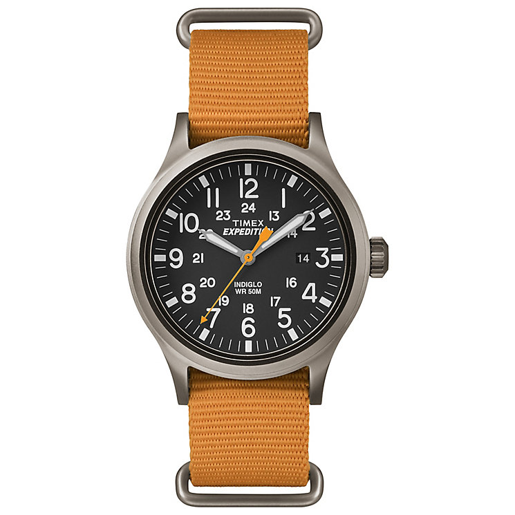 Timex Expedition Scout Men's Orange Strap Black Dial Watch - Product number 4978145
