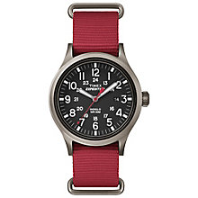 Timex Expedition Scout Men's Red Strap Black Dial Watch - Product number 4978412