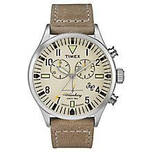 Timex Waterbury Chronograph Natural Dial Watch - Product number 4978420