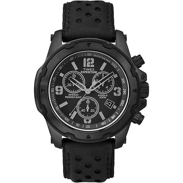 Timex Expedition Sierra Men's Black Strap Black Dial Watch - Product number 4978439