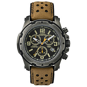 Timex Expedition Sierra Men's Tan Strap Black Dial Watch - Product number 4978447