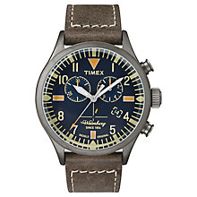 Timex Waterbury Chronograph Brown Leather Watch - Product number 4978471