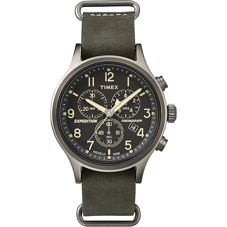Timex Expedition Sierra Men's Green Strap Black Dial Watch - Product number 4978501