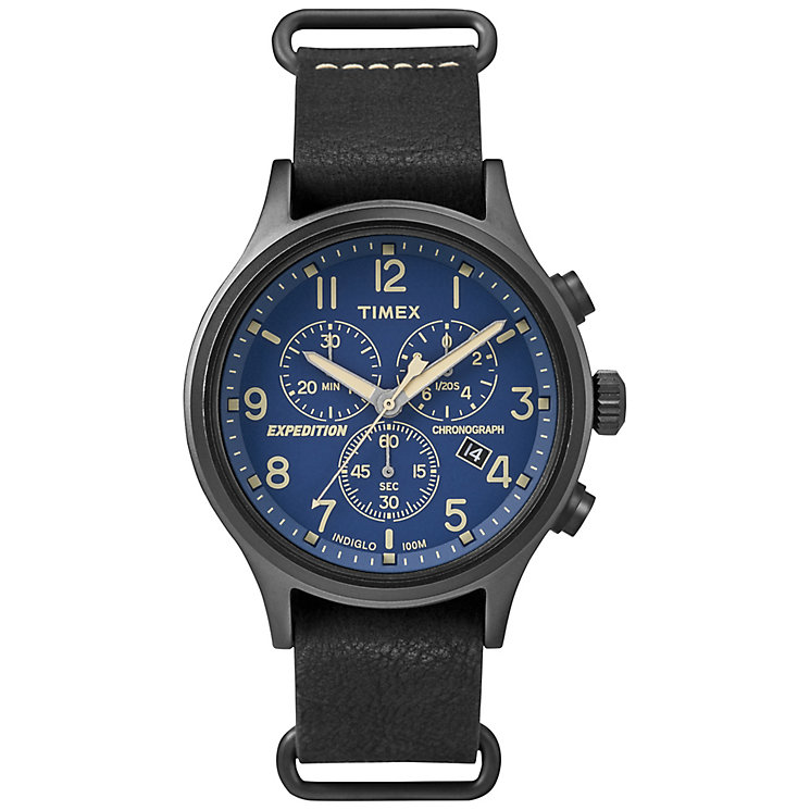 Timex Expedition Sierra Men's Black Strap Black Dial Watch - Product number 4978528