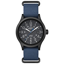 Timex Expedition Scout Men's Blue Strap Black Dial Watch - Product number 4978587