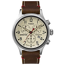 Timex Expedition Scout Chronograph Brown Leather Watch - Product number 4978617