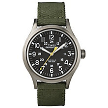 Timex Expedition Scout Men's Green Strap Black Dial Watch - Product number 4978633