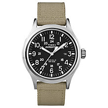Timex Expedition Scout Men's Tan Strap Black Dial Watch - Product number 4978668