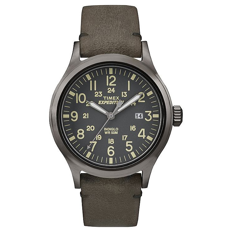 Timex Expedition Scout Men's Brown Strap Grey Dial Watch - Product number 4978684