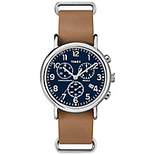 Timex Weekender Chronograph Tan Leather Strap Watch - Product number 4978692