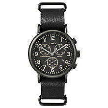 Timex Weekender Chronograph Black Leather Watch - Product number 4978803