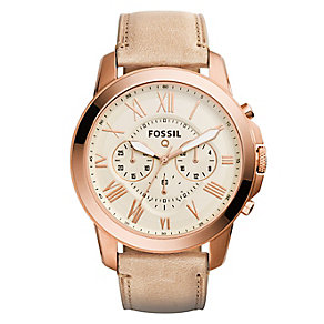 Fossil Q Grant Ladies' Rose Gold Tone Smart Strap watch - Product number 4982002