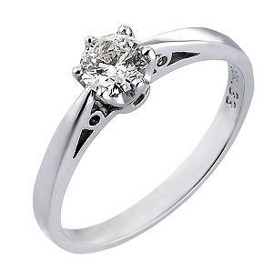 18ct White Gold 1/3 Carat Solitaire Ring