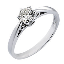 18ct White Gold 1/3 Carat Solitaire Ring - Product number 4984722