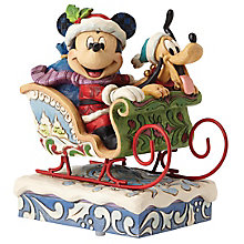 Disney Traditions Mickey & Pluto In Sleigh - Product number 4985656
