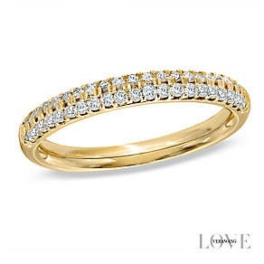 Vera Wang 18ct yellow gold 0.37CT diamond wedding band - Product number 4987373