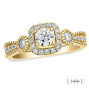 Vera Wang 18ct yellow gold 0.70CT diamond engagement ring - Product number 4990757