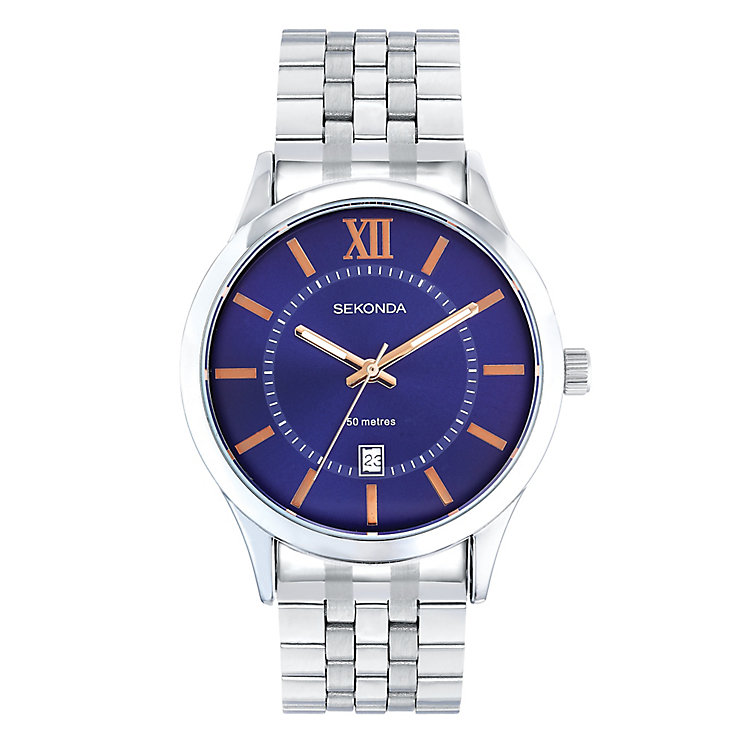 Sekonda Men's Blue Dial Bracelet Watch - Product number 4993624