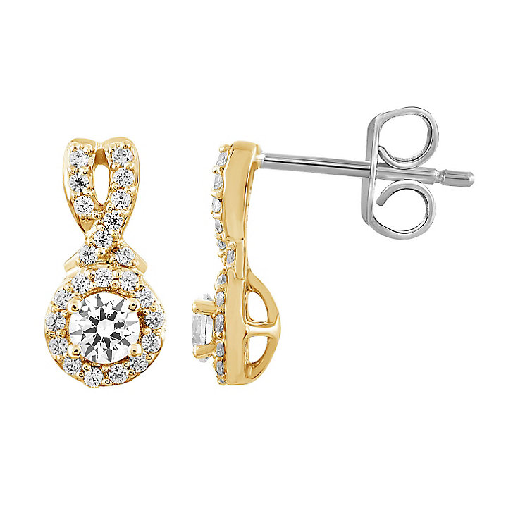 Leo Diamond 18ct Yellow Gold 1/2ct I I1 Diamond Earrings - Product number 4993977