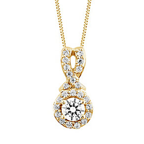 Leo Diamond 18ct Yellow Gold 1/3ct I I1 Diamond Pendant - Product number 4993993