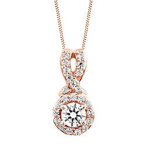 Leo Diamond 18ct Rose Gold 1/3ct I I1 Diamond Pendant - Product number 4994000