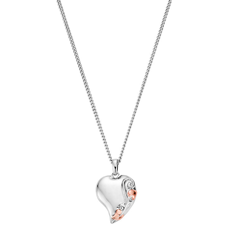 Clogau Silver 9ct Rose Gold Tree of Life Heart Pendant - Product number 4994957