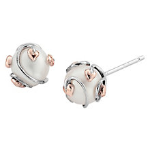 Clogau Silver 9ct Rose Gold Tree of Life Pearl Stud - Product number 4994973