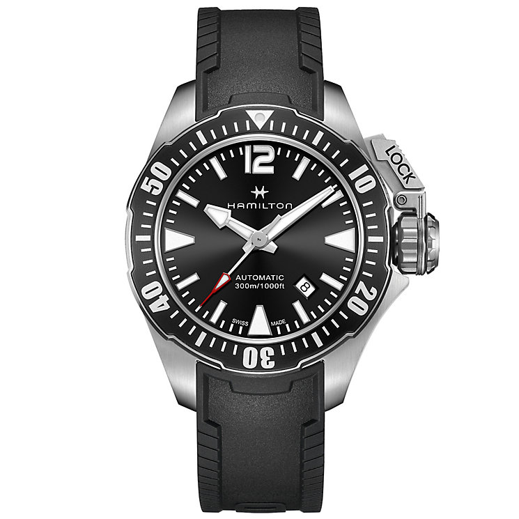 Hamilton Frogman Men's Stainless Steel Strap Watch - Product number 4995104