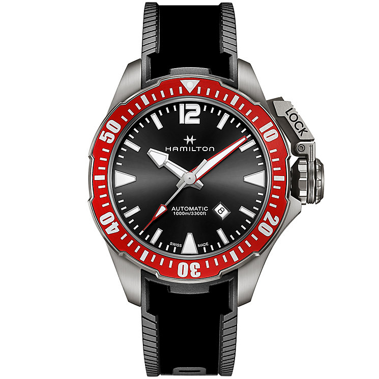 Hamilton Frogman Men's Stainless Steel Strap Watch - Product number 4995139