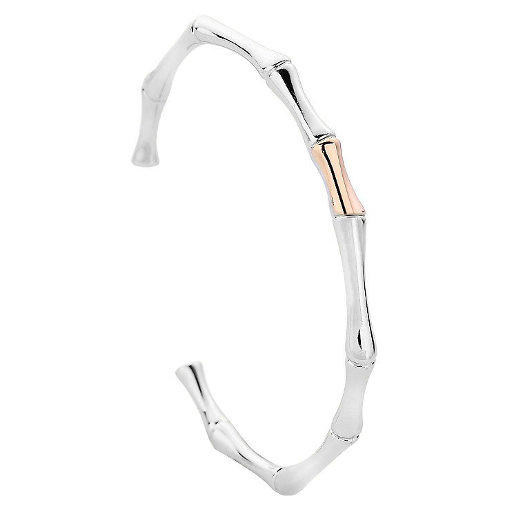 Clogau Silver 9ct Rose Gold Bamboo Bangle - Product number 4995384