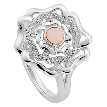 Clogau Silver 9ct Rose Gold Tudor Rose Ring Size N - Product number 4996291