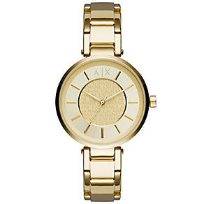 Armani Exchange Ladies' Gold-Plated Bracelet Watch - Product number 4998421