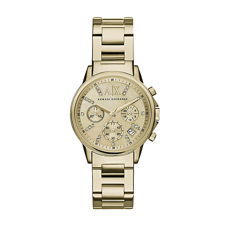 Armani Exchange Ladies' Gold-Plated Bracelet Watch - Product number 4998480