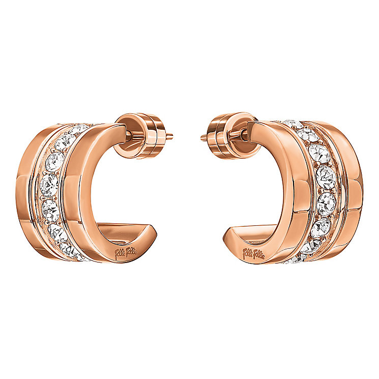 Folli Follie Rose Gold Plated Hoop Earrings - Product number 5000564